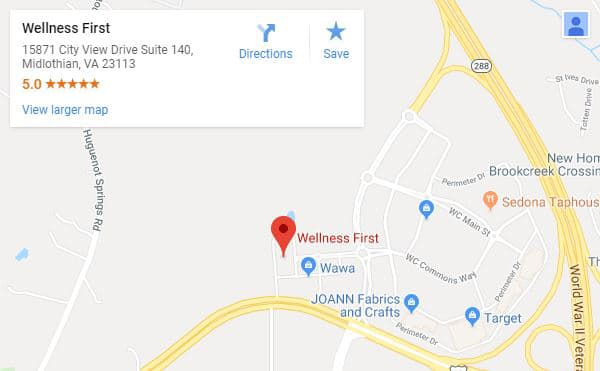 Map of Midlothian Chiropractor